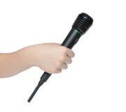 Hand met microfoon Royalty-vrije Stock Foto