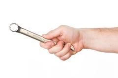 Hand met moersleutel Royalty-vrije Stock Afbeelding