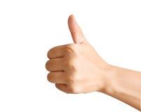 Hand met omhoog duim Royalty-vrije Stock Fotografie