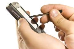 Hand met PDA Stock Fotografie