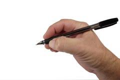 Hand met pen Stock Fotografie
