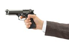 Hand met pistool Stock Afbeelding