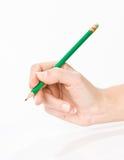 Hand met potlood Stock Afbeeldingen
