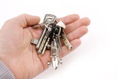 Hand met sleutel Royalty-vrije Stock Foto's