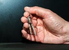 Hand met Sleutels Stock Fotografie