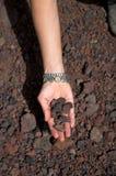 Hand met stenen Royalty-vrije Stock Afbeelding