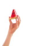 Hand met watermeloen Royalty-vrije Stock Foto's