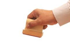 Hand met Zegel stock afbeelding