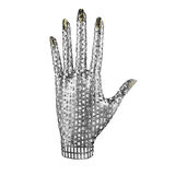 Hand metal. This is a 3d illustration off a hand Royalty Free Stock Photos
