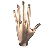 Hand metal. This is a 3d illustration off a hand Royalty Free Stock Images