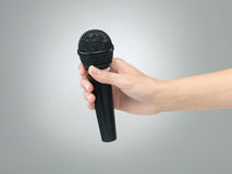 Hand microphone Royalty Free Stock Photos