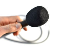 Hand microphone Royalty Free Stock Photo