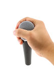 Hand with a microphone Stock Photography