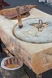 Hand millstone Royalty Free Stock Image
