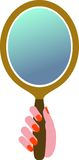 Hand mirror. Isolated illustrated image Royalty Free Stock Image
