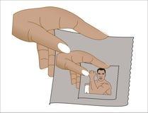 Hand mit Bild Lizenzfreies Stockbild