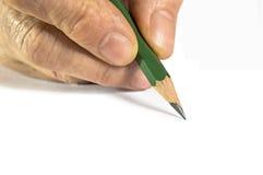 Hand mit Bleistift Lizenzfreie Stockfotografie