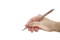 Hand mit Bleistiftschreiben etwas Lizenzfreies Stockfoto