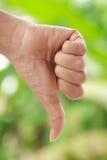 Hand mit dem Daumen unten Lizenzfreie Stockfotos