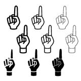 Hand mit dem warnenden Zeigefinger Stockfotos