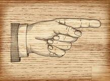 Hand mit dem Zeigen des Fingers Vektor ENV 10 Stockbild
