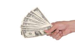 Hand mit Dollar Lizenzfreies Stockfoto
