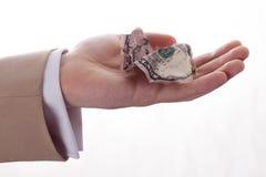 Hand mit Dollar Lizenzfreie Stockfotos