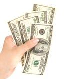Hand mit Dollar Lizenzfreies Stockbild