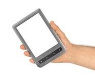Hand mit EBook-Leser lizenzfreie stockfotografie