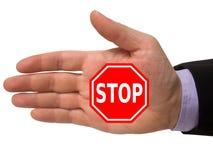Hand mit Endzeichen lizenzfreies stockbild