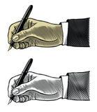 Hand mit Füllfederhalter Lizenzfreie Stockfotos