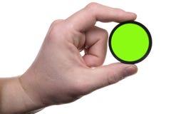 Hand mit Farbenfilter 2 Stockfoto