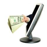 Hand mit Geld lizenzfreie stockfotografie