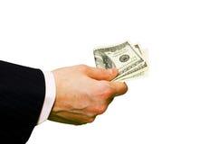 Hand mit Geld Lizenzfreie Stockbilder