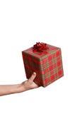 Hand mit Geschenk Lizenzfreie Stockfotos