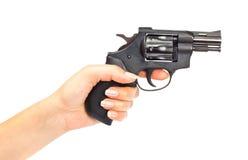 Hand mit Gewehr Stockbild