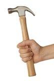 Hand mit Hammer stockbild