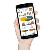 Hand mit Handy Lizenzfreies Stockfoto