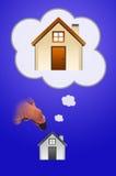 Hand mit Haus Lizenzfreies Stockfoto