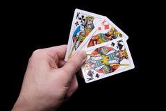 Hand mit Karten Stockbilder