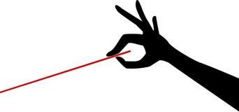 Hand mit Leiter `s Taktstock lizenzfreie abbildung
