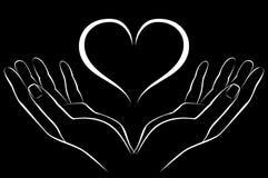 Hand mit Liebe stock abbildung