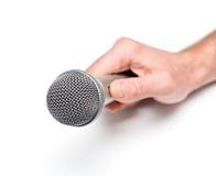 Hand mit Mikrofon Stockbilder