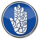 Hand mit Muster Lizenzfreie Stockbilder