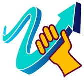 Hand mit Pfeil Lizenzfreie Stockfotografie