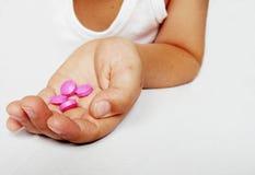 Hand mit pharmazeutischem stockbilder