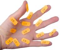 Hand mit Preiskarte Lizenzfreies Stockfoto
