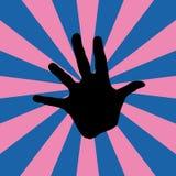 Hand mit Retro- Hintergrund Lizenzfreies Stockfoto