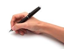 Hand mit Stift lizenzfreie stockfotos