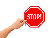 Hand mit Stoppschild Lizenzfreies Stockfoto